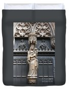 Holy Mary And Child Duvet Cover