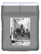 Holy Sepulchre Stairs Duvet Cover