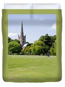 Holy Trinity Church At Stratford Upon Avon Duvet Cover