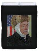 Homage To Van Gogh Selfie Duvet Cover