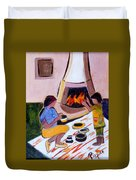 Home And Hearth In Taos Duvet Cover