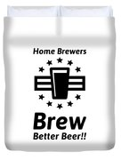 Home Brew Logo Range Duvet Cover
