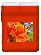 Home Decor Orange Rhodie Flower Art Print Baslee Troutman Duvet Cover