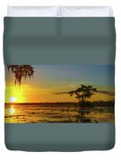 Home Home On The Swamp Duvet Cover