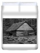 Home In The Woods Bw Duvet Cover