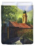 Home Of Long Ago  Duvet Cover