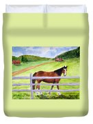 Home On The Farm Duvet Cover