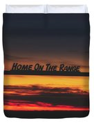 Home On The Range - Wyoming Ranch  Duvet Cover