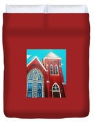 Home Town Church Duvet Cover
