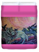 Homecoming Wolves And Ravens Duvet Cover