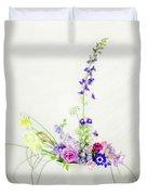 Homegrown Floral Bouquet Duvet Cover