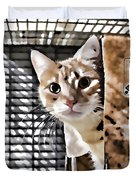 Homeless Cat Duvet Cover