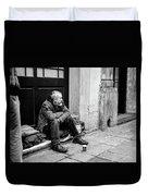 Homeless In Brussels Duvet Cover