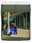 Homeless In Nyc Duvet Cover