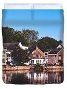 Homes On Kennebunkport Harbor Duvet Cover