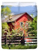 Homestead At Old World Wisconsin Duvet Cover