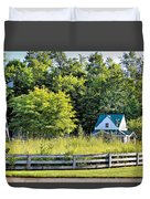 Small Farm Homestead Duvet Cover