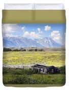 Homestead In The Grand Tetons Duvet Cover