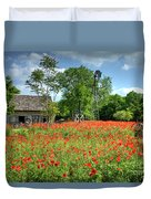 Homestead In The Poppies Duvet Cover