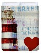 Hometown Bahamas Lighthouse Duvet Cover