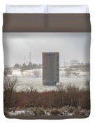 Hometown Landmark Duvet Cover