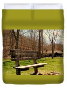 Hometown Series - Have A Seat Duvet Cover