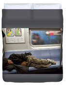 Homeless In Motion Duvet Cover