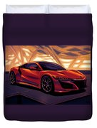 Honda Acura Nsx 2016 Mixed Media Duvet Cover