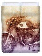 Honda Cb77 - Honda Motorcycles 2 - Motorcycle Poster - Automotive Art Duvet Cover