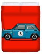 Honda N600 Blue Kei Race Car Duvet Cover