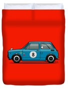 Honda N600 Blue Kei Race Car Duvet Cover