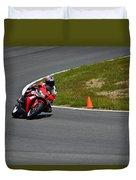 Honda Takes Turn 1 No 2 Duvet Cover