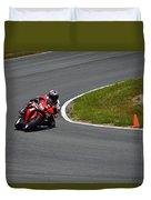 Honda Takes Turn 11 No 1 Duvet Cover
