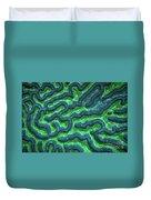 Honduran Brain Coral Duvet Cover