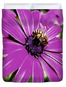 Honey Bee On A Spring Flower Duvet Cover