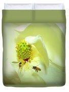 Honey Bees And Magnolia II Duvet Cover