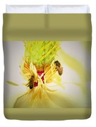 Honey Bees And Magnolia Duvet Cover