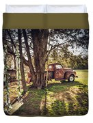 Honey, Under The Cedar Tree Duvet Cover