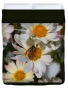 Honeybee And Daisy Mums Duvet Cover