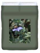 Honeybee On Blue Daze Duvet Cover