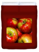 Honeycrisp Apples Duvet Cover