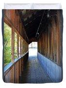 Honeymoon Bridge Sidewalk Duvet Cover