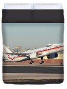 Honeywell Boeing 757-225 N757hw Phoenix Sky Harbor January 14, 2016 Duvet Cover