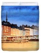 Honfleur  Evening Lights Duvet Cover by Bill Holkham