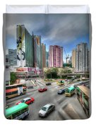 Hong Kong Traffic Duvet Cover