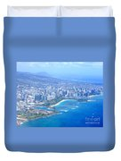 Honolulu And Waikiki From The Air Duvet Cover