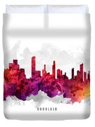 Honolulu Hawaii Cityscape 14 Duvet Cover