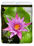 Honolulu Water Lily Duvet Cover