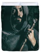 Hooded Man With Axe Duvet Cover
