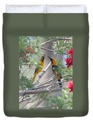 Hooded Oriole Duo Duvet Cover